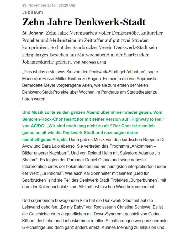 SZ 30112018 10 Jahre Denkwerkstadt