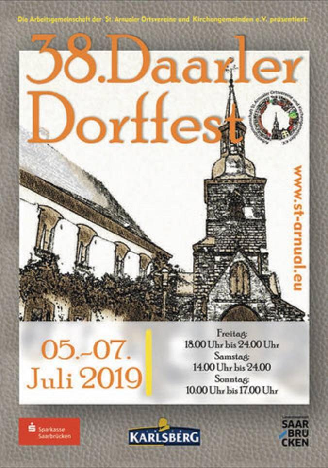 Plakat Daarler Dorffest