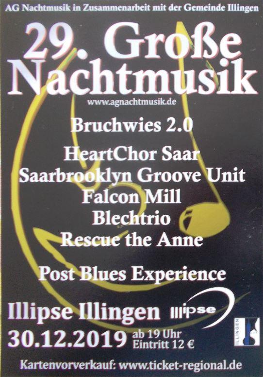 Flyer Große Nachtmusik Illipse Illingen 30122019