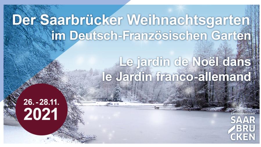 Plakat Weihnachtsgarten 2021 im DFG